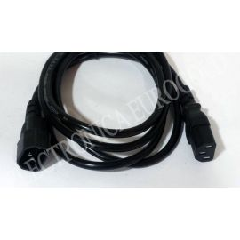 CABLE CPU-MONITOR TRIFASICO (C-13) (C-14) 1,8mts 3X0,75mm