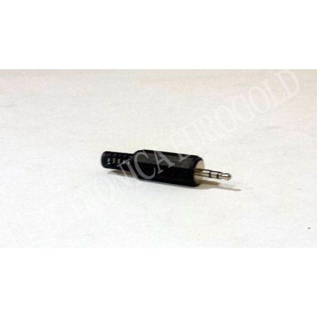 CONECTOR JACK MACHO 2,5mm STEREO CARCASA DE PLASTICO (1003)