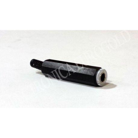 CONECTOR JACK HEMBRA 6,35mm MONO CARCASA DE PLASTICO (1069)