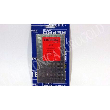 PLACA BAQUELITA PISTAS PASO 2,54 90X155mm REPROCIRCUIT