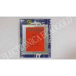 PLACA BAQUELITA PISTAS PASO 2,54 77,5X90mm REPROCIRCUIT