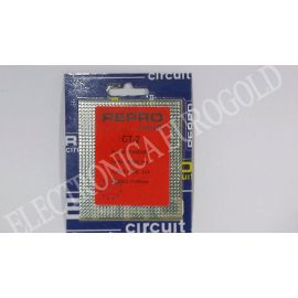 PLACA FIBRA TOPOS PASO 2,54 77,5X90mm REPROCIRCUIT