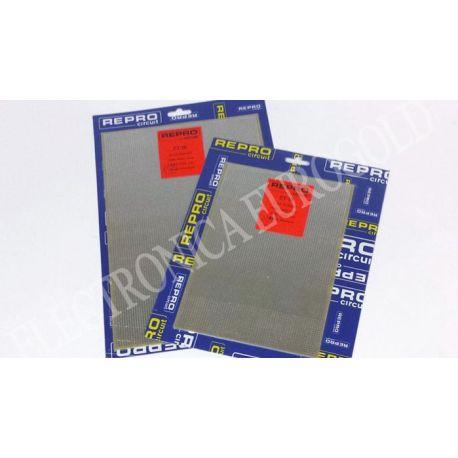 PLACA FIBRA TOPOS PASO 2,54 200X300mm REPROCIRCUIT