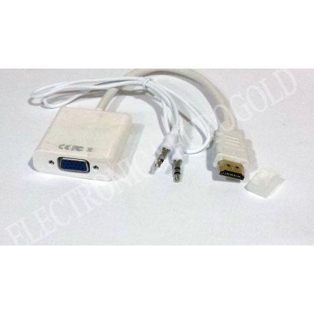 LATIGUILLO ADAPTADOR HDMI / VGA + AUDIO