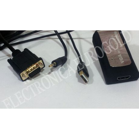 LATIGUILLO ADAPTADOR VGA + AUDIO / HDMI