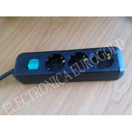 BASE MULTIPLE ELECTRICIDAD 3 T. C/INT NEGRA