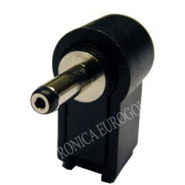 CONECTOR JACK ALIMENTACION CODO 5,5X2,1mm (14mm)