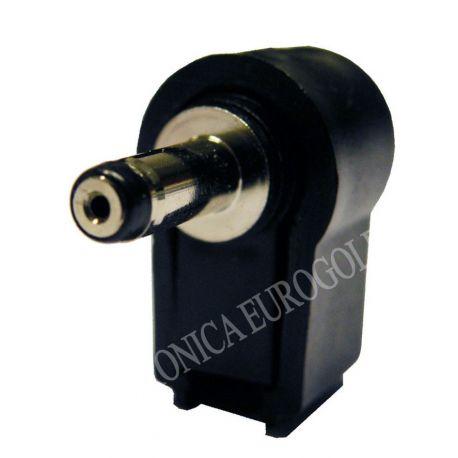 CONECTOR JACK ALIMENTACION CODO 5,5X2,5mm (14mm)