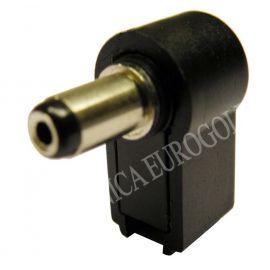 CONECTOR JACK ALIMENTACION CODO 5,5X2,1mm (9mm)