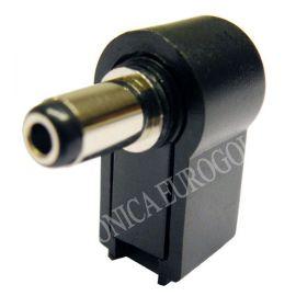 CONECTOR JACK ALIMENTACION CODO 5,5X2,5mm (9mm)