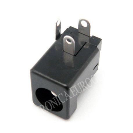 CONECTOR JACK ALIMENTACION HEMBRA PARA CHASIS PIN MACHO 2,5mm