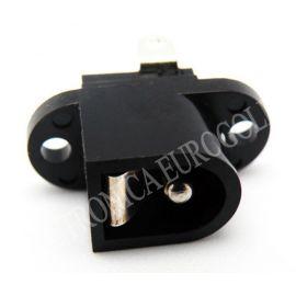 CONECTOR JACK ALIMENTACION HEMBRA PARA CHASIS PIN MACHO 2,5mm SUJECION