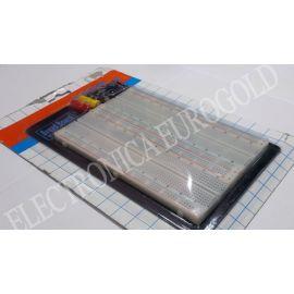 MODULO BOARD 1680 CONTACTOS PASO 2,54mm 215X130mm + SOPORTE Y BORNES