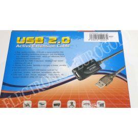 REPETIDOR DE SEÑAL USB 2.0 5MTS