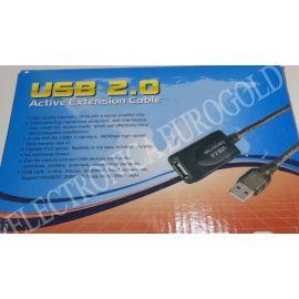 REPETIDOR DE SEÑAL USB 2.0 15MTS