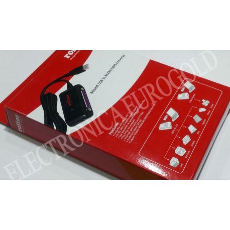 CABLE CONVERSOR USB - RS232/DB25 ROLINE