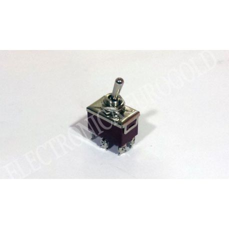 INTERRUPTOR 6P. 3POS. (ON-OFF-ON) 250V 10A TIPO TORNILLO