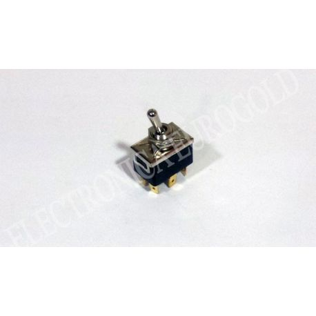 INTERRUPTOR 6P. 3POS. (ON-OFF-ON) 250V 10A TIPO FASTON