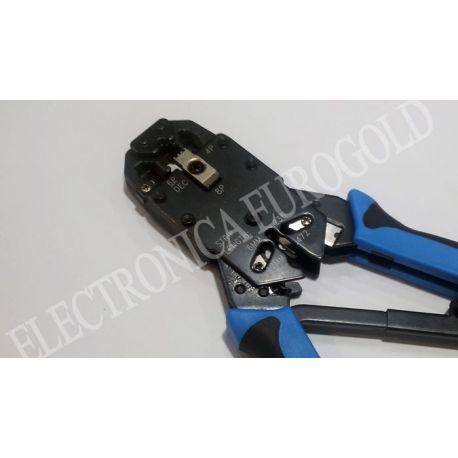 TENAZA CRIMPADORA CONECTORES MODULARES RJ9/RJ11/RJ12/DEC/RJ45