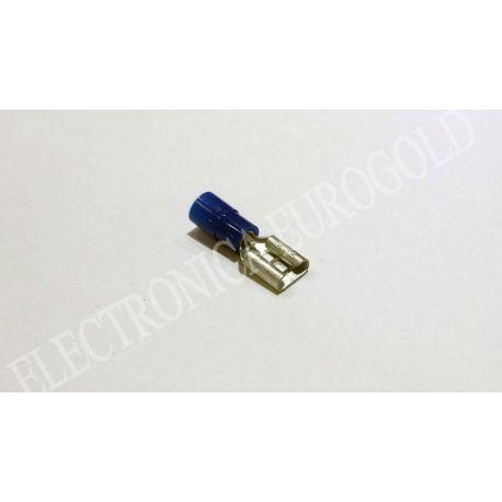 BLISTER TERMINAL FASTON HEMBRA AZUL 6,3mm