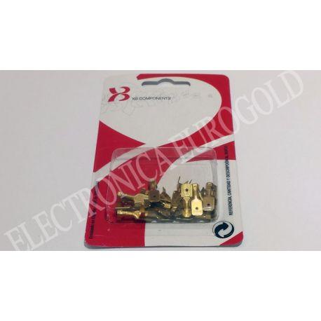 BLISTER TERMINAL FASTON MACHO 6,3mm