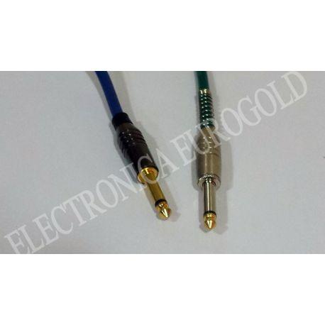 CONEXION JACK 6,35mm M/M MONO.CONECTORES