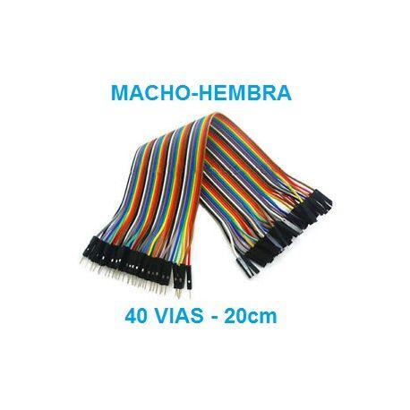 DUPONT LINEA DE CABLES 40 VIAS macho-hembra