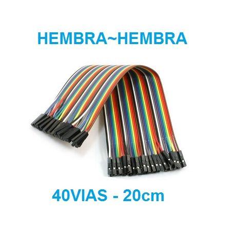 DUPONT LINEA DE CABLES 40 VIAS hembra-hembra