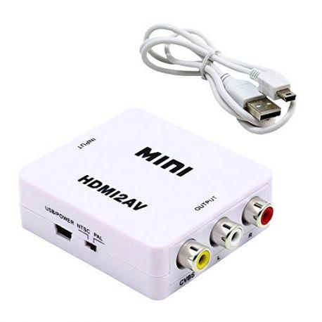 CONVERSOR DE HDMI A RCA CON CABLE USB