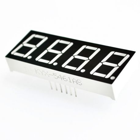 "LED DISPLAY 4X7 SEG. ANODO COMUN 0.56"" COLOR ROJO 12 PIN"