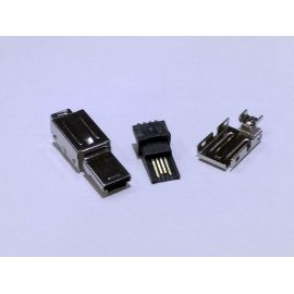 CONECTOR MACHO MINI USB 4 PINES