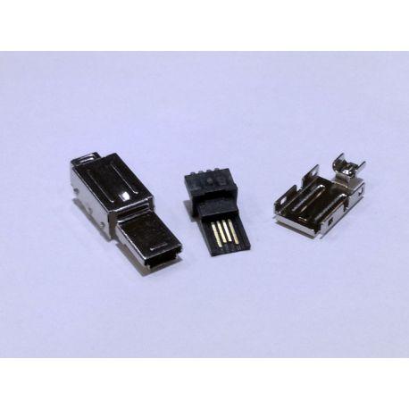 CONECTOR MACHO MINI USB 4 PINES