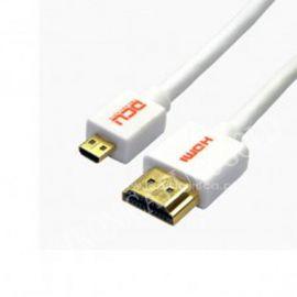 CONEXION HDMI M - MICRO HDMI M 1,5mts SLIM DCU