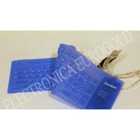 TECLADO FLEXIBLE USB ORDENADOR COLORES